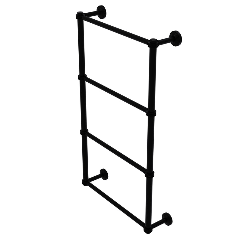Allied Brass Waverly Place Collection 4 Tier 30 Inch Ladder Towel Bar with Dotted Detail WP-28D-30-BKM