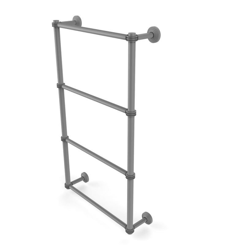 Allied Brass Waverly Place Collection 4 Tier 30 Inch Ladder Towel Bar with Dotted Detail WP-28D-30-GYM