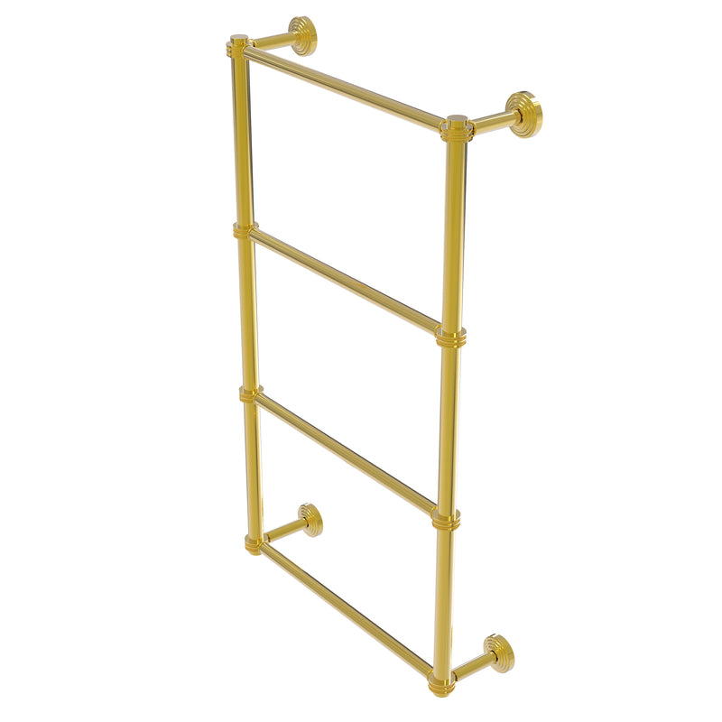Allied Brass Waverly Place Collection 4 Tier 30 Inch Ladder Towel Bar with Dotted Detail WP-28D-30-PB