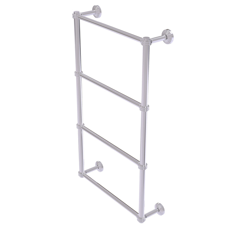 Allied Brass Waverly Place Collection 4 Tier 30 Inch Ladder Towel Bar with Dotted Detail WP-28D-30-PC