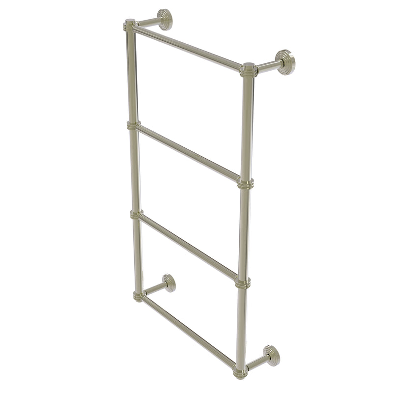 Allied Brass Waverly Place Collection 4 Tier 30 Inch Ladder Towel Bar with Dotted Detail WP-28D-30-PNI