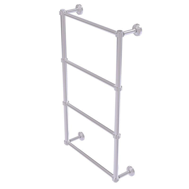 Allied Brass Waverly Place Collection 4 Tier 30 Inch Ladder Towel Bar with Dotted Detail WP-28D-30-SCH