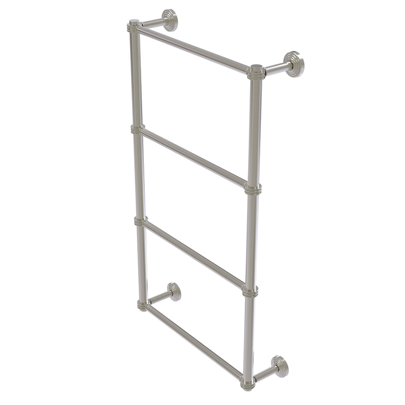 Allied Brass Waverly Place Collection 4 Tier 30 Inch Ladder Towel Bar with Dotted Detail WP-28D-30-SN