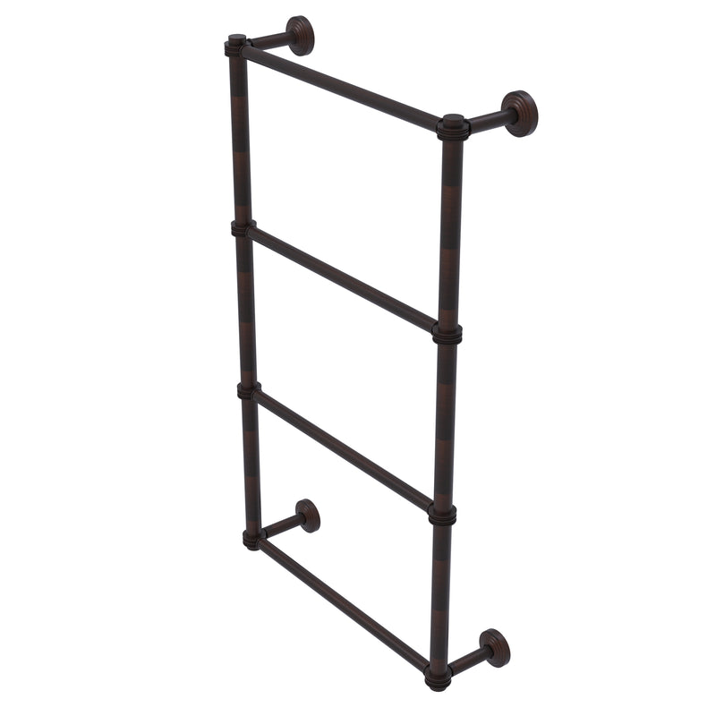 Allied Brass Waverly Place Collection 4 Tier 30 Inch Ladder Towel Bar with Dotted Detail WP-28D-30-VB