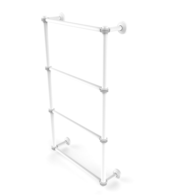 Allied Brass Waverly Place Collection 4 Tier 30 Inch Ladder Towel Bar with Dotted Detail WP-28D-30-WHM