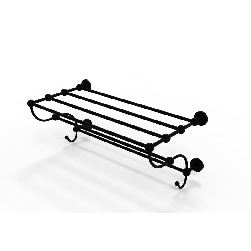 Allied Brass Waverly Place Collection 24 Inch Train Rack Towel Shelf WP-HTL-24-5-BKM