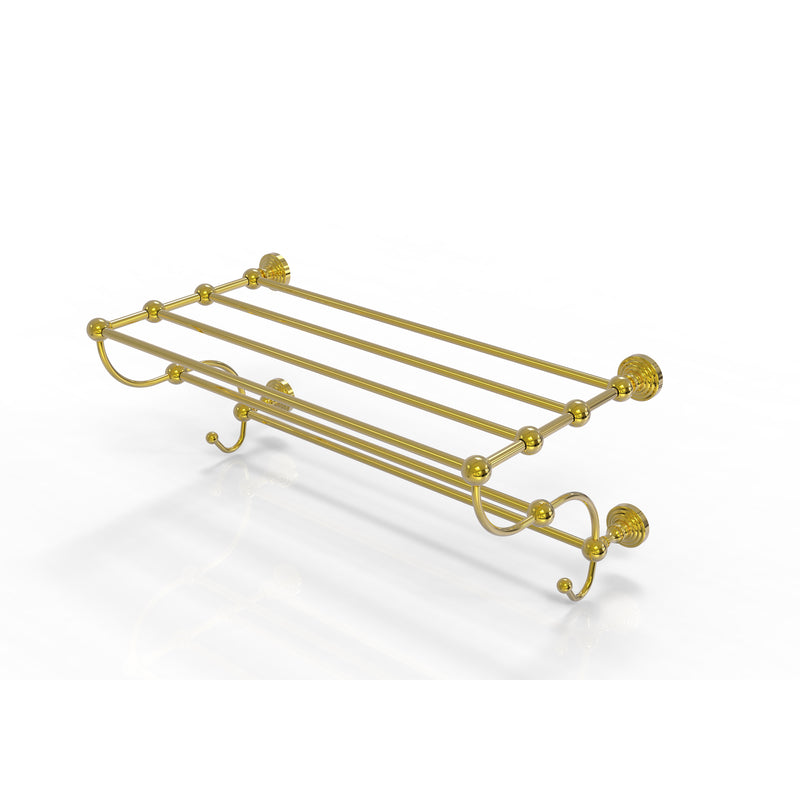 Allied Brass Waverly Place Collection 24 Inch Train Rack Towel Shelf WP-HTL-24-5-PB