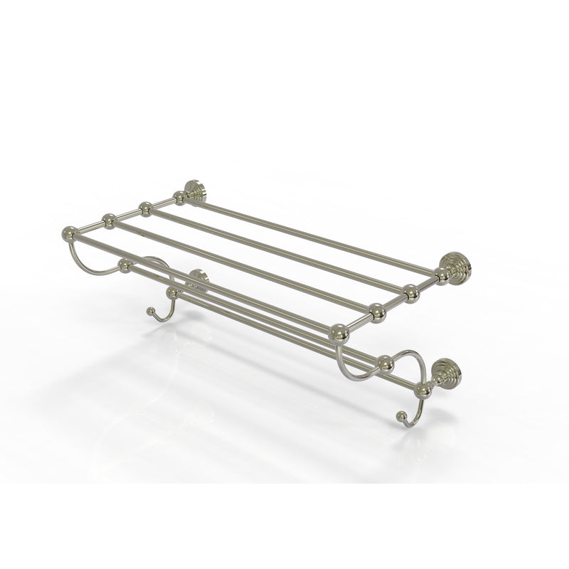 Allied Brass Waverly Place Collection 24 Inch Train Rack Towel Shelf WP-HTL-24-5-PNI