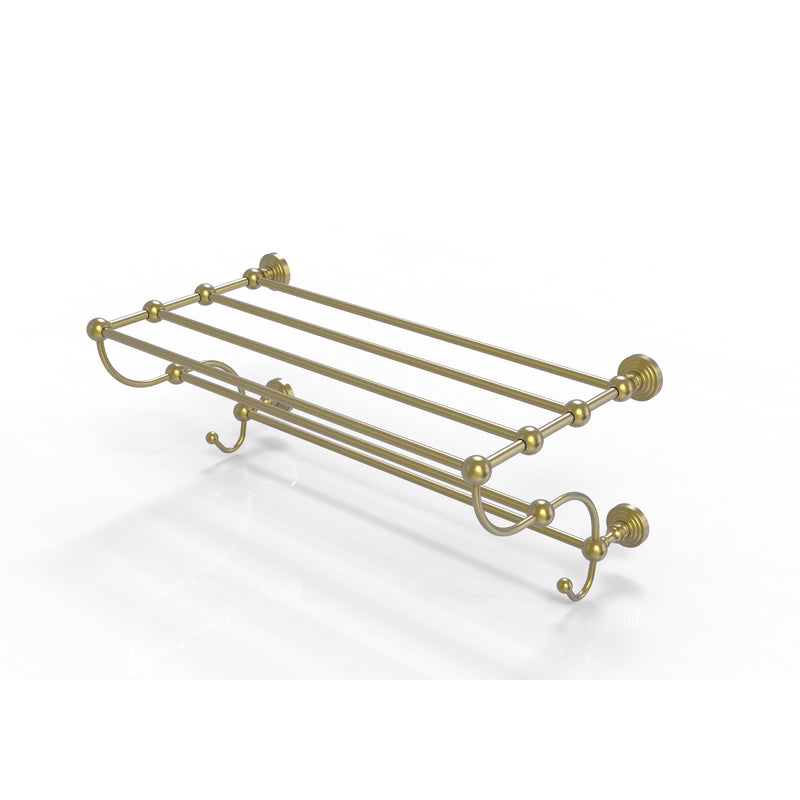 Allied Brass Waverly Place Collection 24 Inch Train Rack Towel Shelf WP-HTL-24-5-SBR