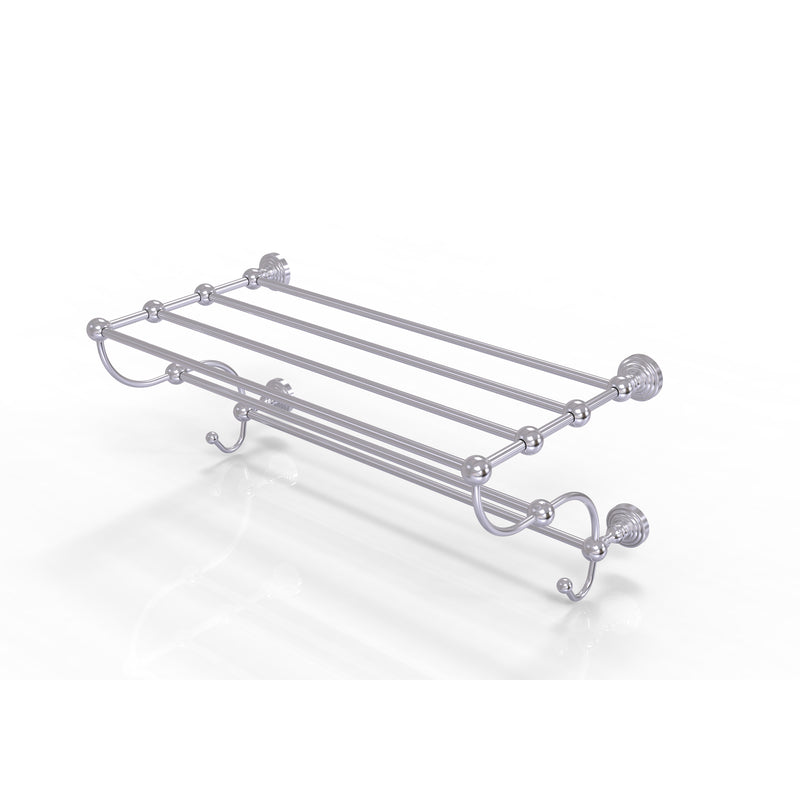Allied Brass Waverly Place Collection 24 Inch Train Rack Towel Shelf WP-HTL-24-5-SCH