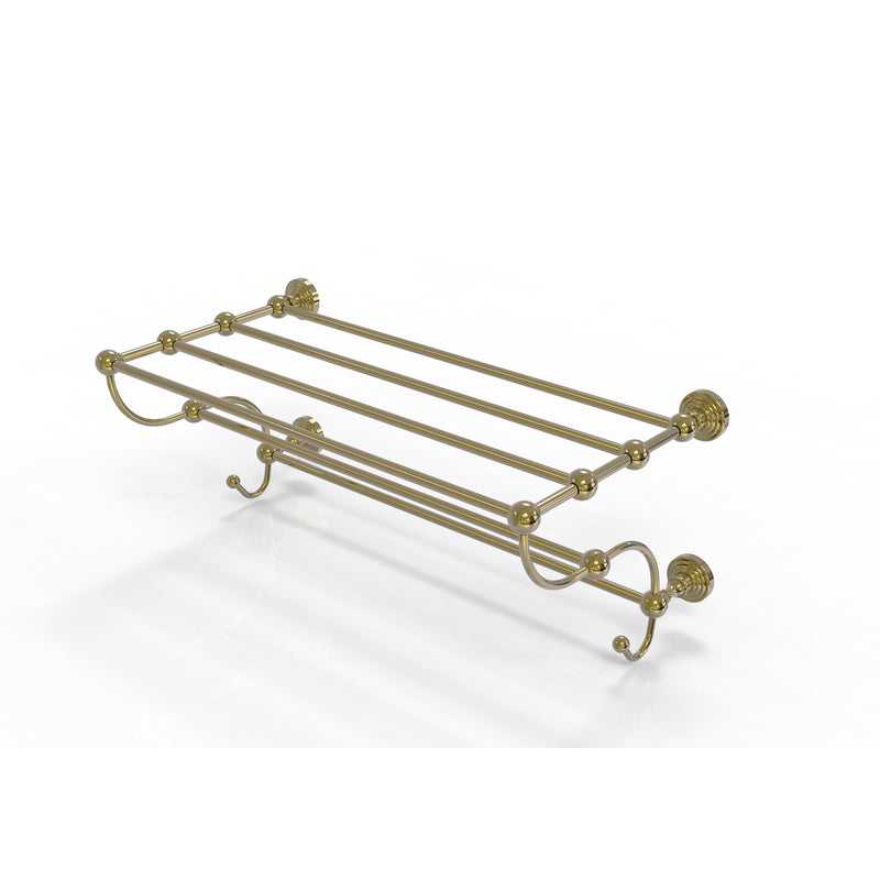 Allied Brass Waverly Place Collection 24 Inch Train Rack Towel Shelf WP-HTL-24-5-UNL