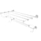Allied Brass Waverly Place Collection 24 Inch Train Rack Towel Shelf WP-HTL-24-5-WHM