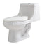 Anzzi Odin 1-piece 1.28 GPF Dual Flush Elongated Toilet in White