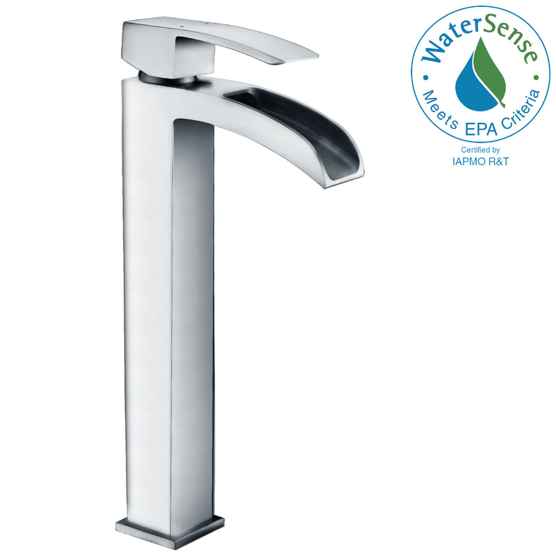 Anzzi Key Series Single Hole Single-Handle Vessel Bathroom Faucet in Polished Chrome