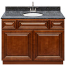"Brown Bathroom Vanity 42"", Blue Butterfly Granite Top, Faucet LB6B BB434-42GN-6B"