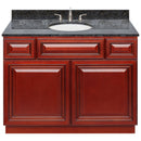 "Cherry Bathroom Vanity 42"", Blue Butterfly Granite Top, Faucet LB4B BB438-42CH-4B"