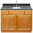 "Brown Bathroom Vanity 42"", Blue Butterfly Granite Top, Faucet LB7B BB438-42RC-7B"
