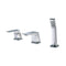 ALFI  Brushed Nickel Deck Mounted 3 Hole Tub Filler & Shower Head AB2464-BN