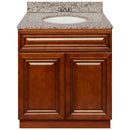 "Brown Bathroom Vanity 30"", Burlywood Granite Top, Faucet LB3B BU314-30GN-3B"
