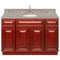 "Cherry Bathroom Vanity 48"", Burlywood Granite Top, Faucet LB6B BU494-48CH-6B"