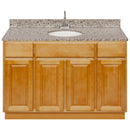 "Brown Bathroom Vanity 48"", Burlywood Granite Top, Faucet LB6B BU494-48RC-6B"