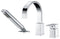 Anzzi Nite Series Single-Handle Deck-Mount Roman Tub Faucet with Handheld Sprayer in Polished Chrome