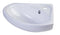 "ALFI 18"" White Corner Porcelain Wall Mounted Bath Sink AB109"