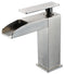 ALFI Brushed Nickel Single Hole Waterfall Bathroom Faucet AB1598-BN