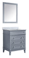 "Anzzi Wineck 36"" W x 35"" H Bathroom Bath Vanity Set in Rich Gray"