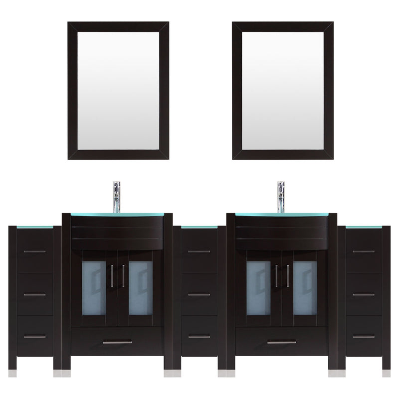 LessCare 96 Black Vanity Set - Two 30 Sink Bases, Three 12 Drawer Bases (LV3-C20-96-B)