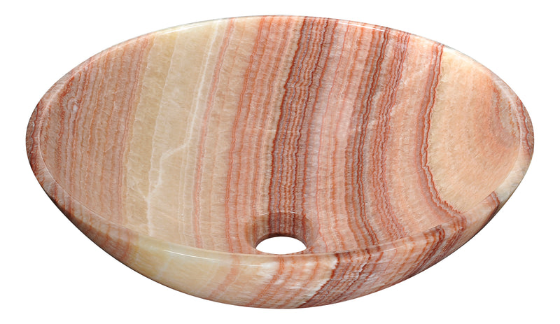 Anzzi Shores Gate Natural Stone Vessel Sink in Morning Shore