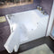 "MediTub Wheel Chair Accessible 29"" x 53"" Left Drain White Air Jetted Wheelchair Accessible Bathtub"