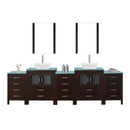 "Virtu USA Dior 110"" Double Bathroom Vanity"
