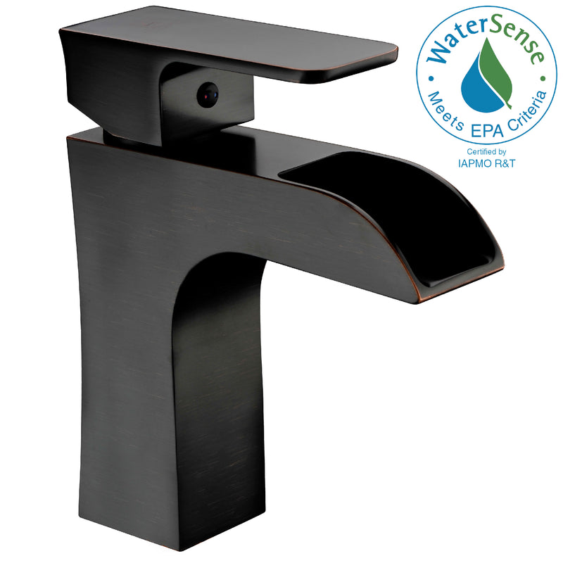 Anzzi Forza Series Single Hole Single-Handle Low-Arc Bathroom Faucet in Oil Rubbed Bronze