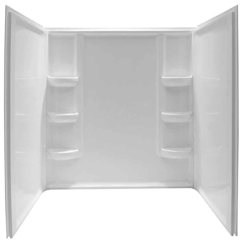 "Anzzi Lex-Class 60"" x 36"" x 60"" 3-piece Direct-to-Stud Alcove Shower Surround in White"