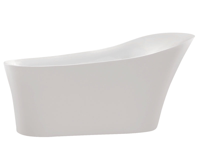 Anzzi Maple Series 5.58' Freestanding Bathtub in White