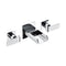 ALFI Brushed Nickel Widespread Wall Mounted Modern Waterfall Bathroom Faucet AB1796-BN