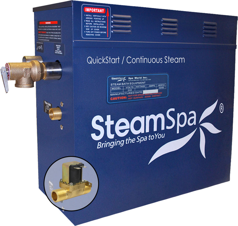 SteamSpa 6 KW QuickStart Acu-Steam Bath Generator with Built-in Auto Drain