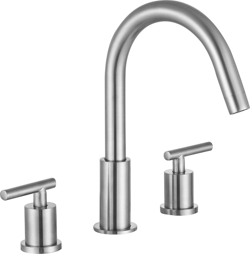 "Anzzi Roman 8"" Widespread 2-Handle Bathroom Faucet in Brushed Nickel"