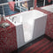 "MediTub Walk-In 32"" x 60"" Left Drain White Whirlpool and Air Jetted Walk-In Bathtub"