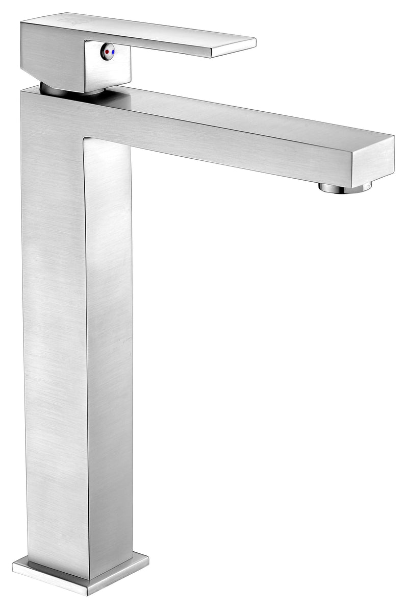 Anzzi Enti Series Single Hole Single-Handle Vessel Bathroom Faucet in Brushed Nickel
