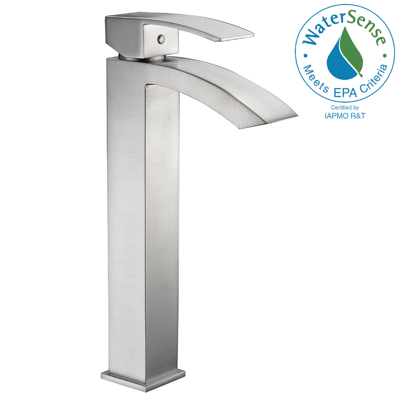 Anzzi Tutti Single Hole Single-Handle Bathroom Faucet in Brushed Nickel