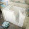 "MediTub Walk-In 29"" x 52"" Right Drain White Soaking Walk-In Bathtub"