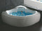 ALFI EAGO 5' Corner Acrylic White Waterfall Whirlpool Bathtub for Two AM208ETL