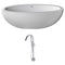 Anzzi Lusso 6.3' Man-Made Stone Classic Soaking Bathtub in Matte White and Kros Faucet in Chrome