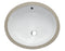 "ALFI EAGO White Ceramic 18""x15"" Undermount Oval Bathroom Sink BC224"