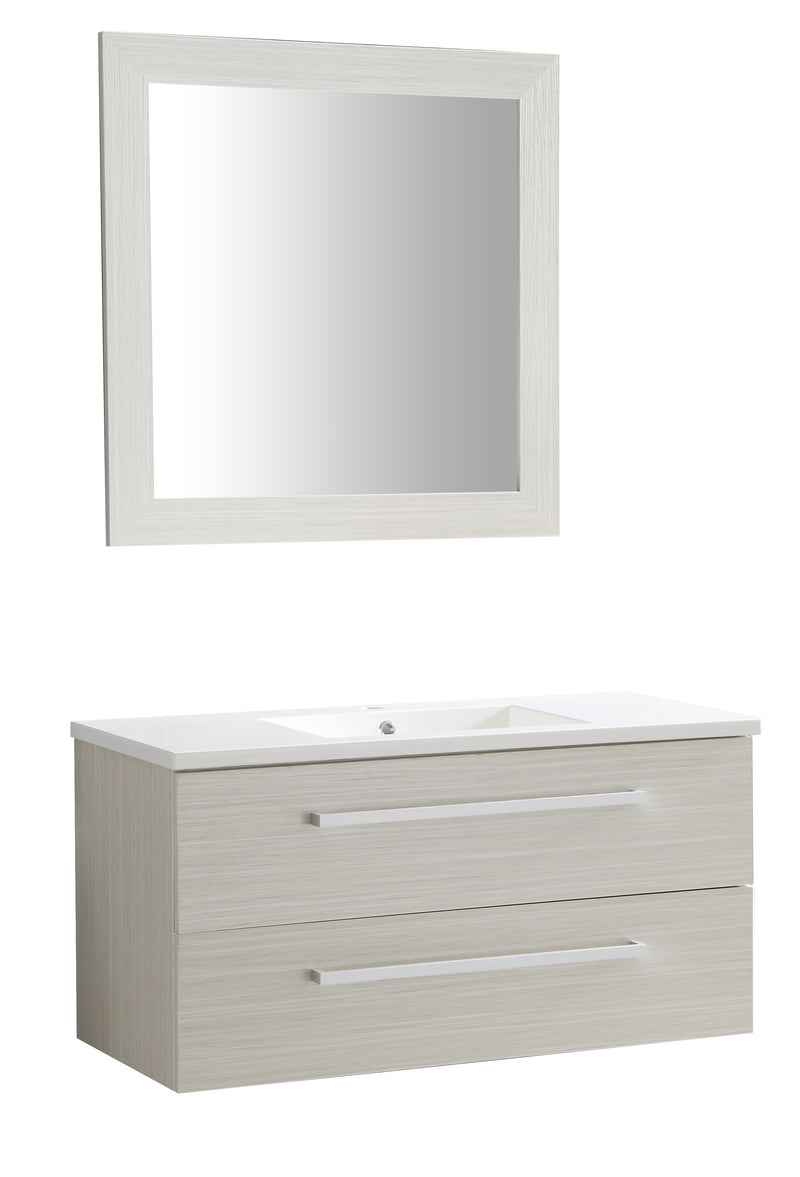 "Anzzi Conques 39"" W x 20"" H Bathroom Vanity Set in Rich White"