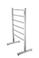 Anzzi Kiln Series 6-Bar Stainless Steel Floor Mounted Electric Towel Warmer Rack in Brushed Nickel