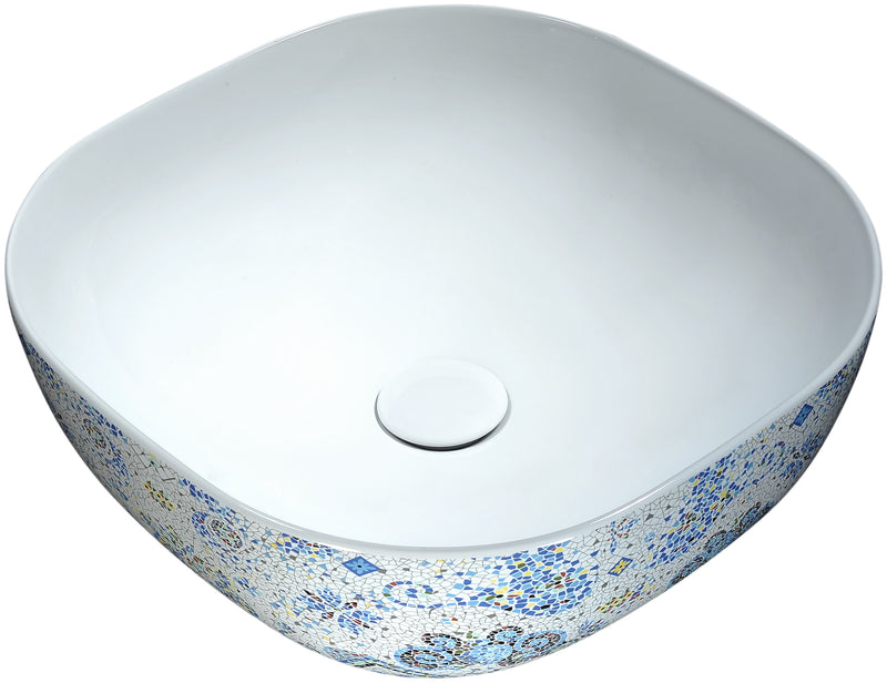 Anzzi Byzantian Series Ceramic Vessel Sink in Byzantine Mosaic Finish