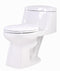 Anzzi Templar 1-piece 1.28 GPF Single Flush Elongated Toilet in White